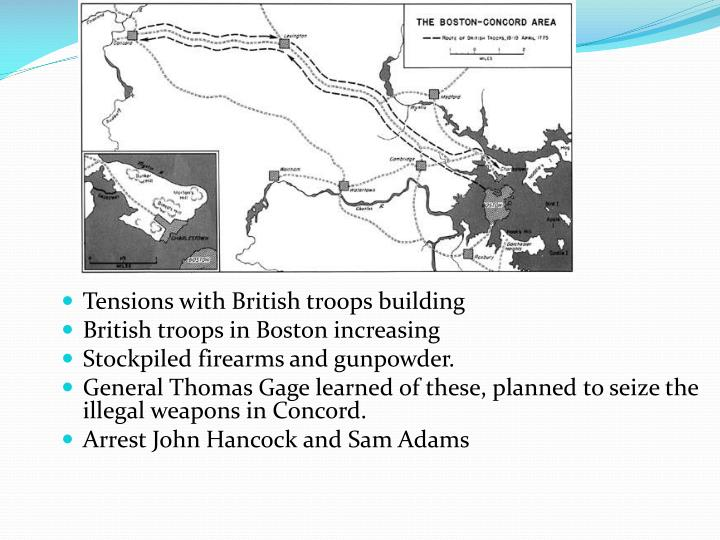 Tensions with British troops building