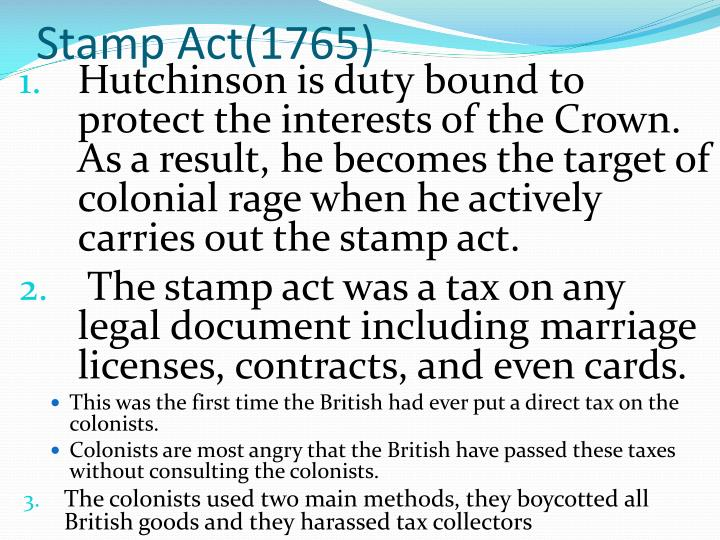 Stamp Act(1765)