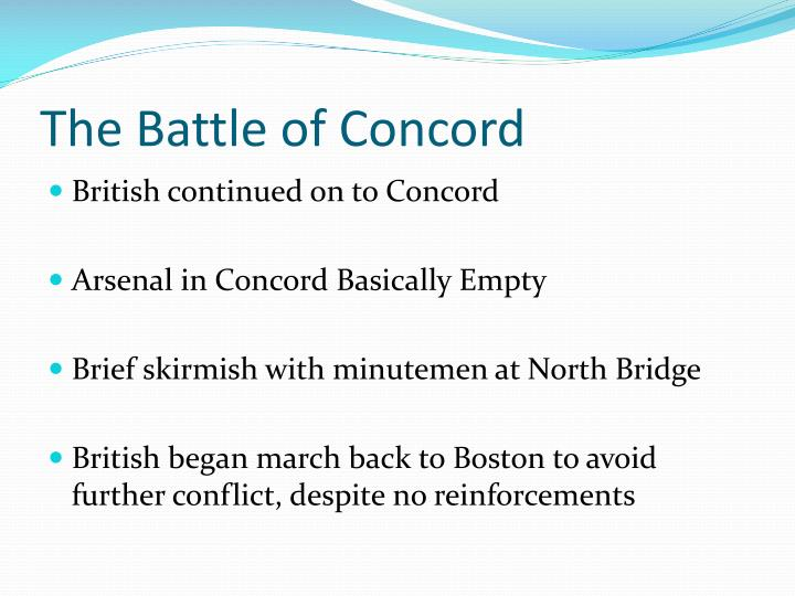 The Battle of Concord
