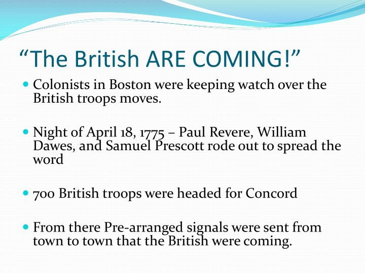 """The British ARE COMING!"""