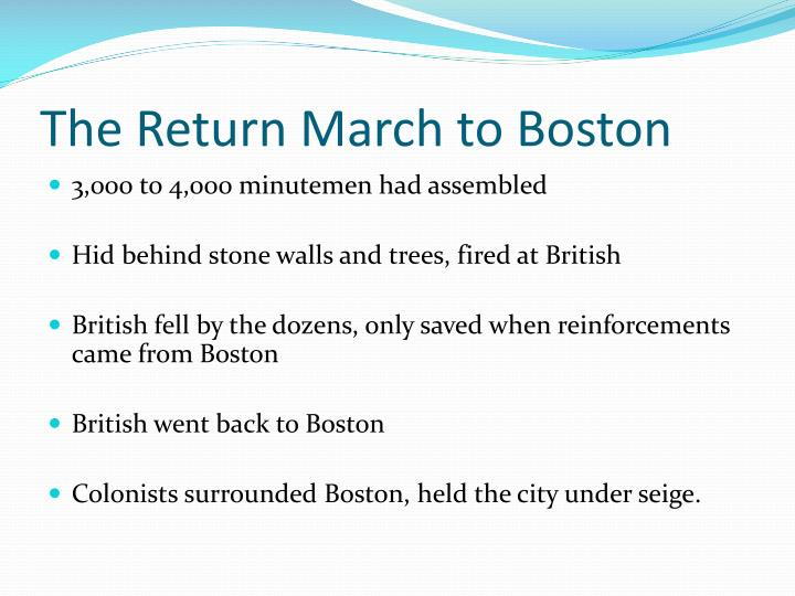 The Return March to Boston