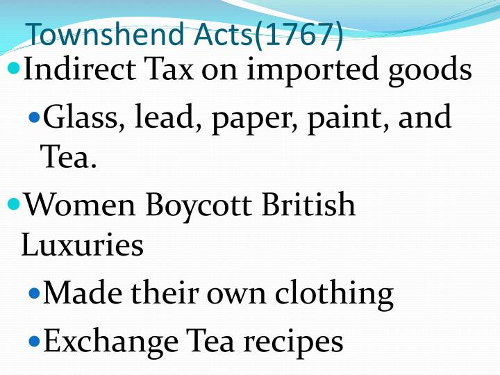 Townshend Acts(1767)