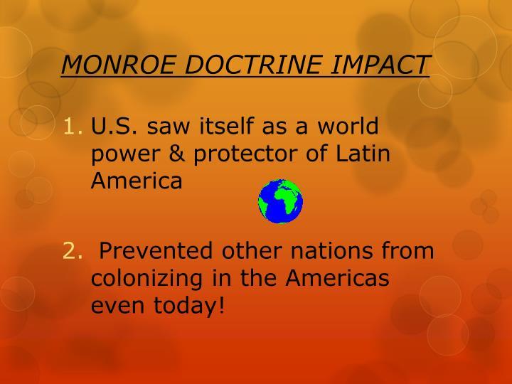 MONROE DOCTRINE IMPACT