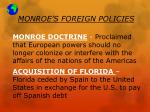 monroe s foreign policies