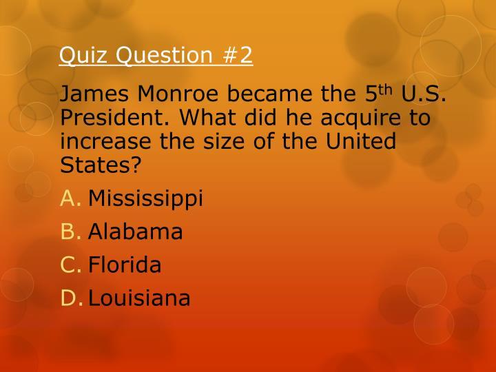 Quiz Question #2