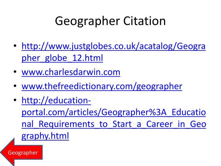 Geographer Citation