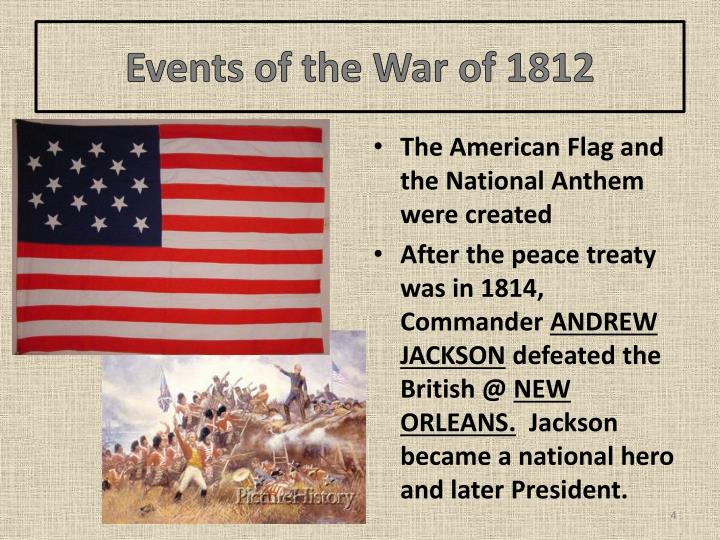 Events of the War of 1812