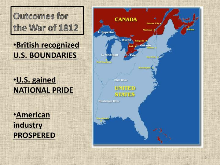 Outcomes for the War of 1812