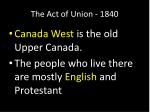 the act of union 18403