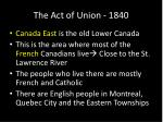 the act of union 18404