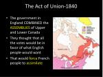 the act of union 18405