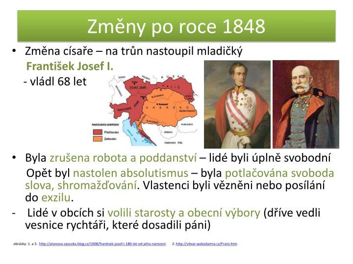 Změny po roce 1848