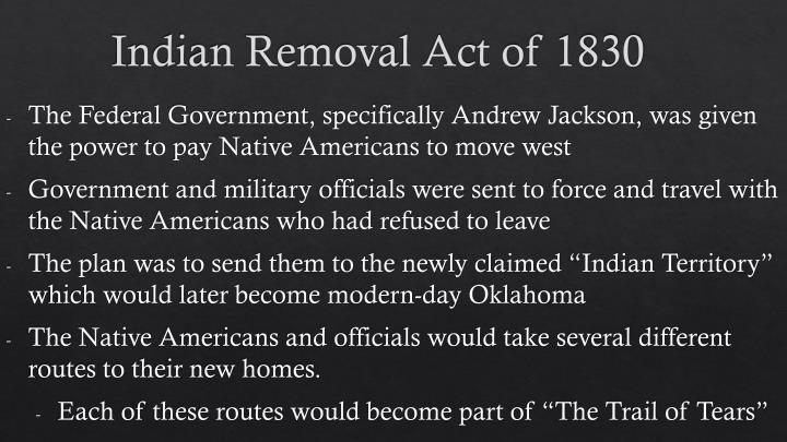 PPT - Indian Removal Act of 1830 PowerPoint Presentation - ID:3191095