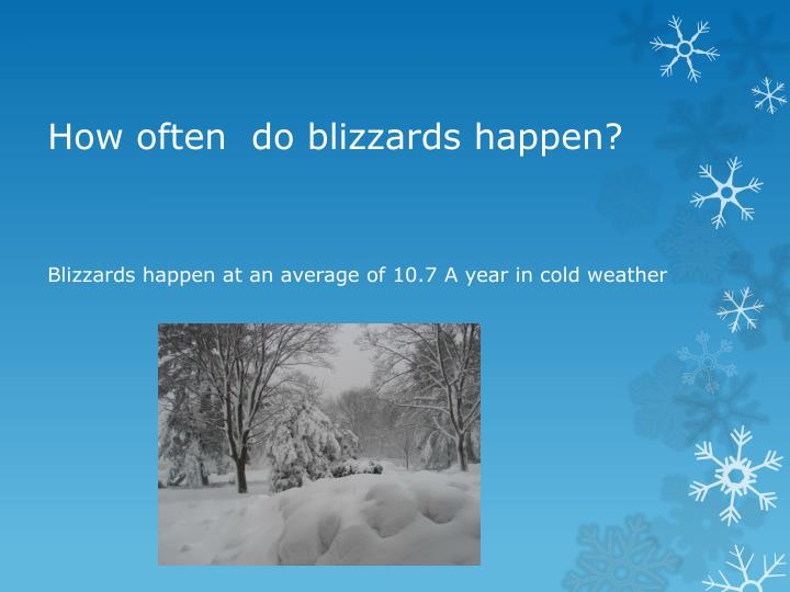 How often  do blizzards happen?