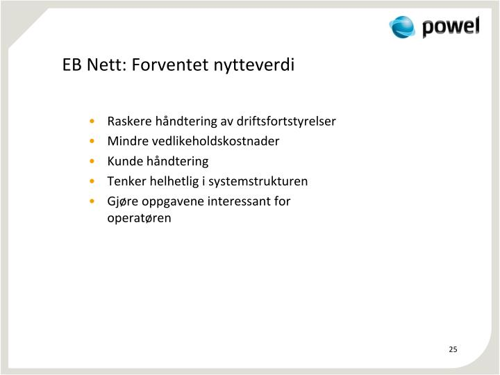EB Nett: Forventet nytteverdi
