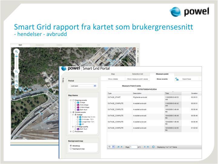 Smart Grid rapport fra kartet som brukergrensesnitt