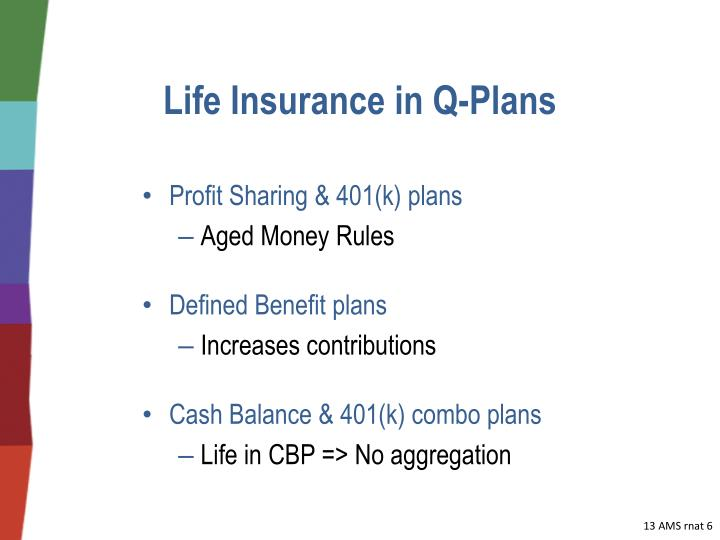 Life Insurance in Q-Plans