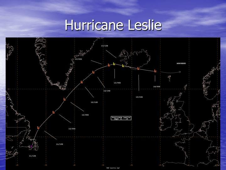 Hurricane Leslie