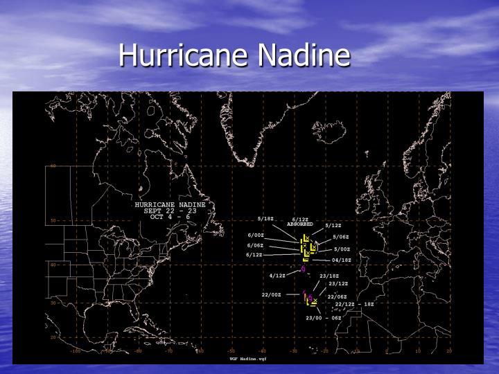 Hurricane Nadine