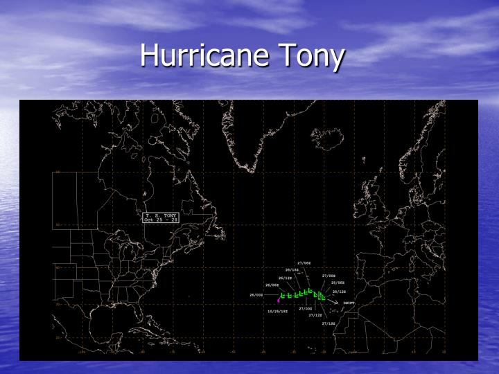 Hurricane Tony