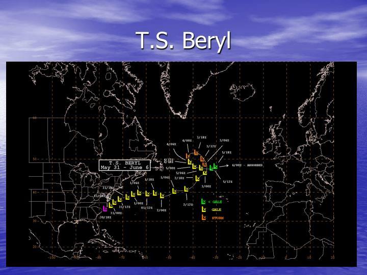 T.S. Beryl