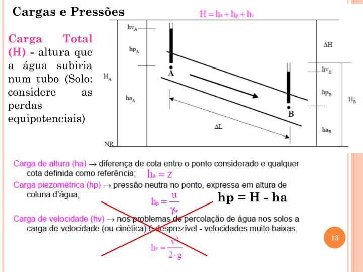 Cargas e Pressões