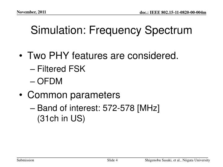 Simulation: Frequency Spectrum