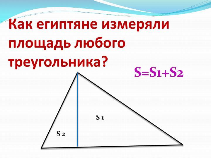 Как египтяне измеряли площадь любого треугольника