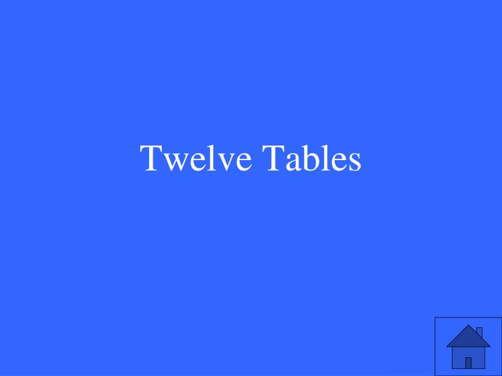 Twelve Tables