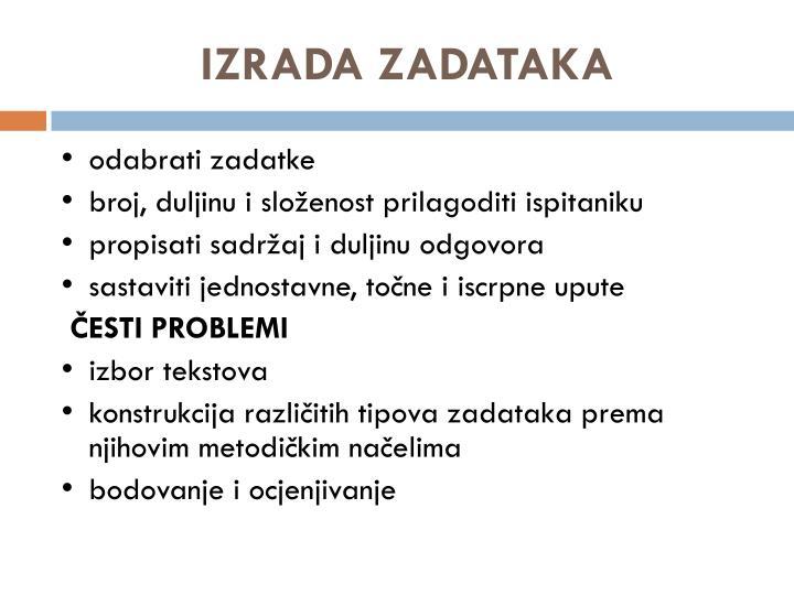 IZRADA ZADATAKA