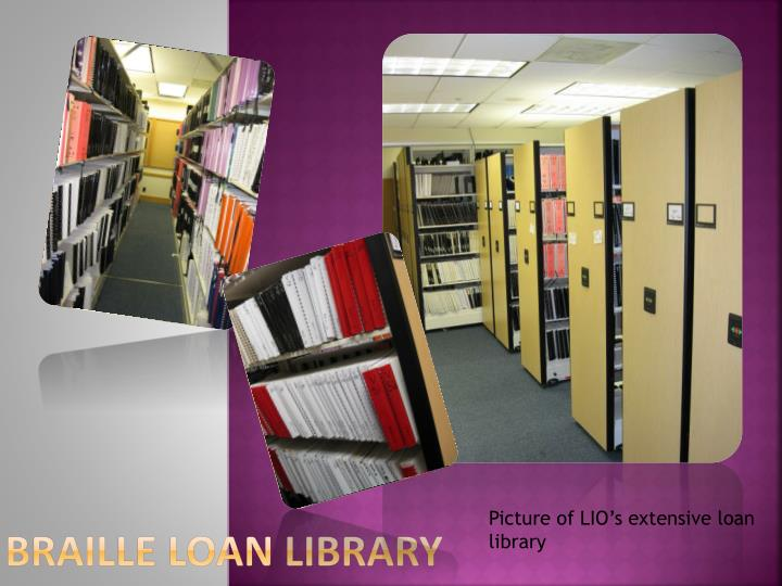 Braille Loan Library