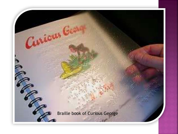 Braille book of Curious George