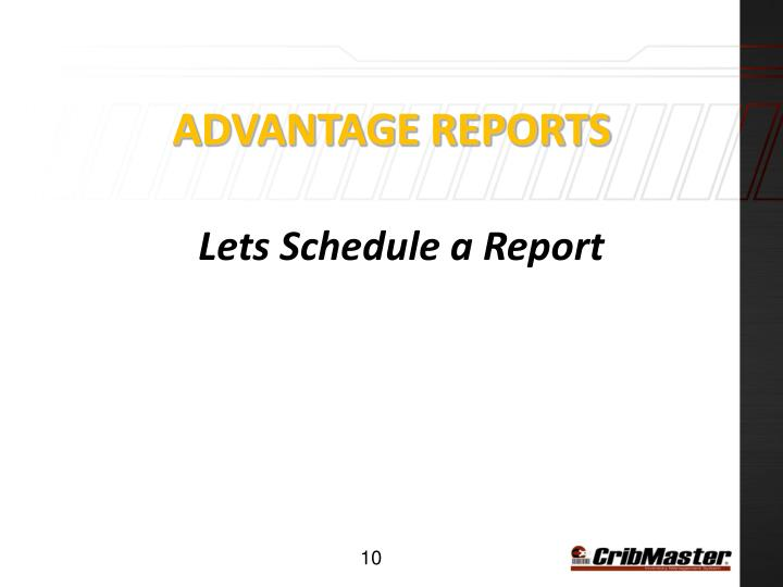 Advantage Reports