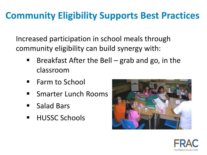 Community Eligibility Supports Best Practices