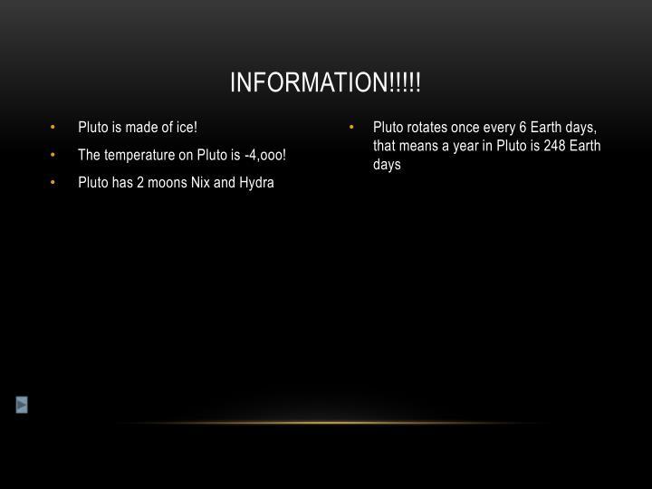 Information!!!!!