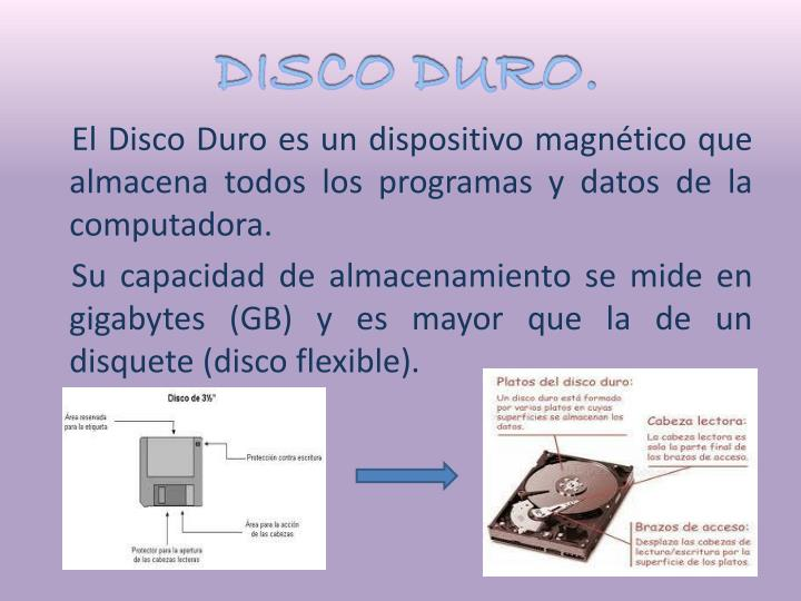 DISCO DURO.