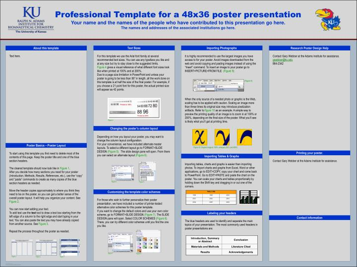 Templates for poster presentation