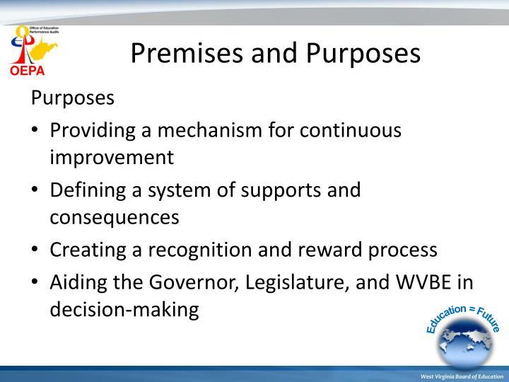 Premises and Purposes