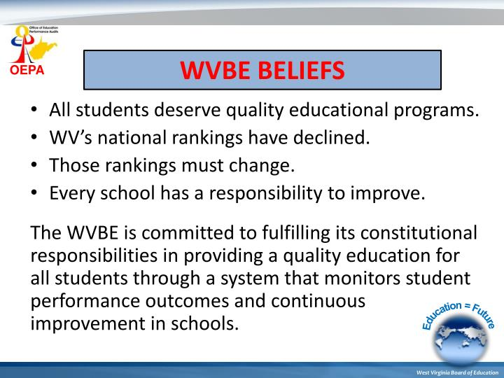 WVBE BELIEFS
