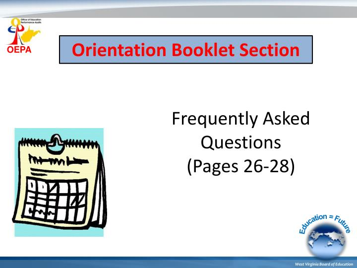 Orientation Booklet Section