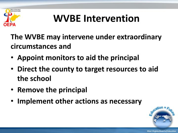 WVBE Intervention
