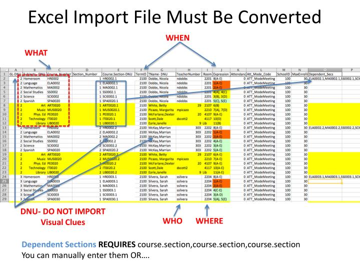 Excel Import File Must Be Converted
