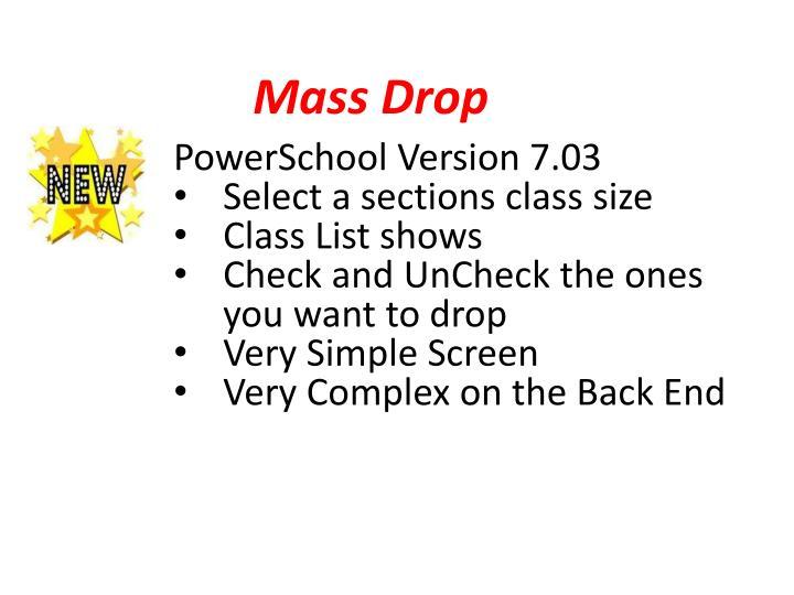 Mass Drop
