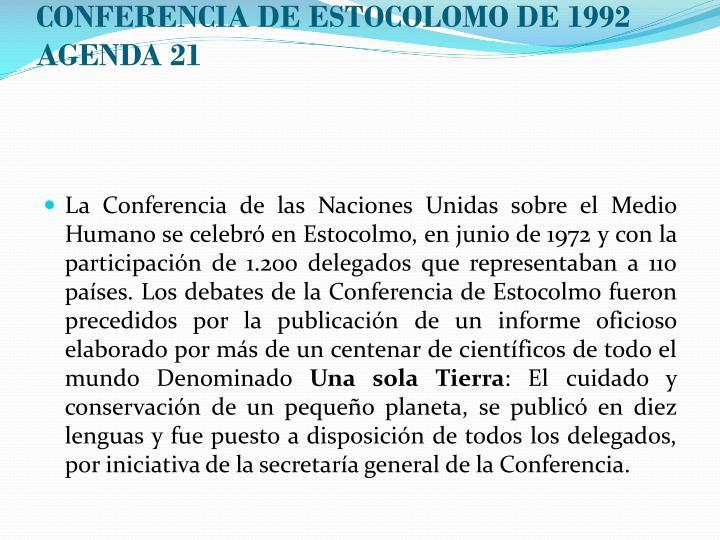 CONFERENCIA DE ESTOCOLOMO DE 1992