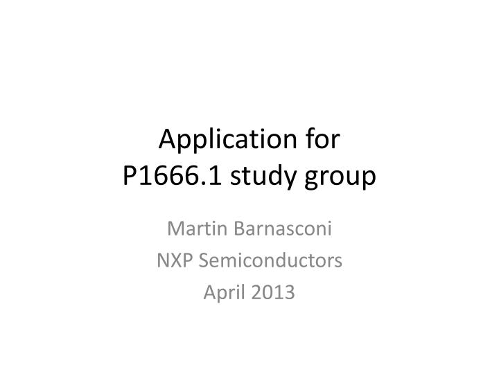 Application for p1666 1 study group