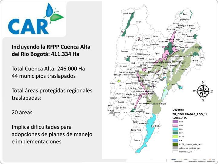 Incluyendo la RFPP Cuenca Alta del Río Bogotá: