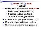 in world not of world 1 john 2