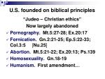 u s founded on biblical principles