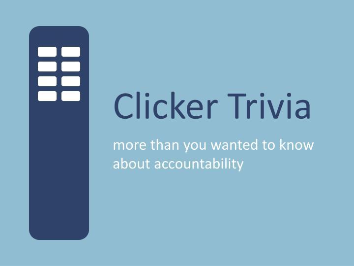 Clicker Trivia