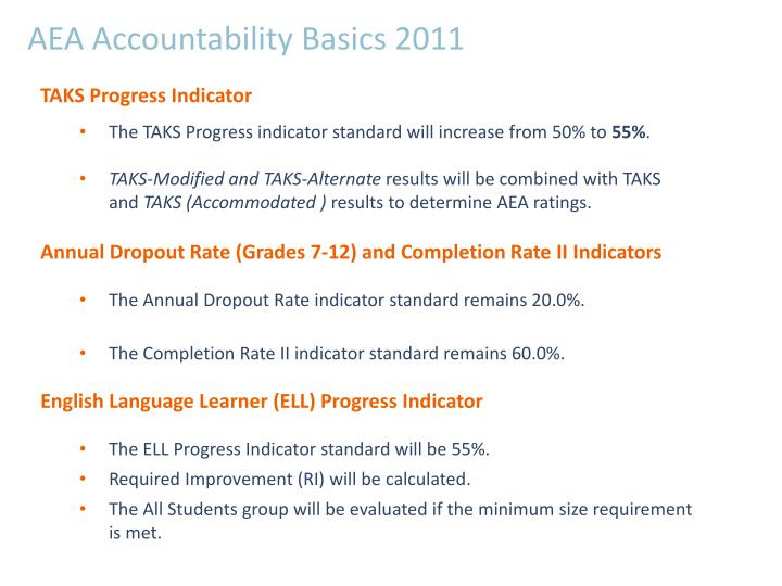 AEA Accountability Basics 2011
